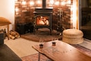 Cozy up by the fireplace in the evenings. - Cozy up by the fireplace in the evenings.