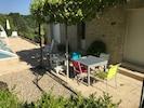 terrasse devant piscine annexe