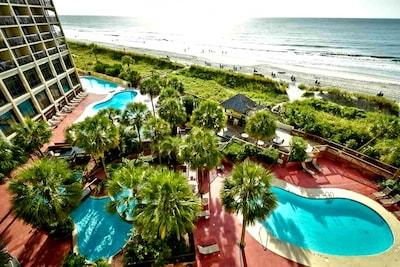 North Myrtle Beach Vacation Rental | 1BR | 1BA | 650 Sq Ft | 5th-FlooCondo Views