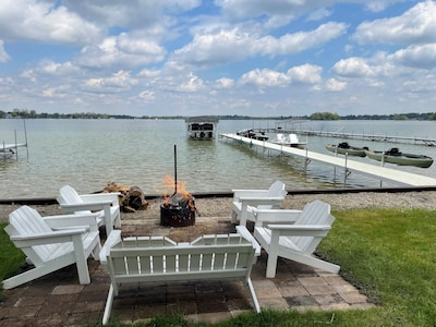 View of Crystal Lake.  Waiting for you to take a seat and relax.