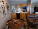 Kitchenette with Dinner and Game Table
