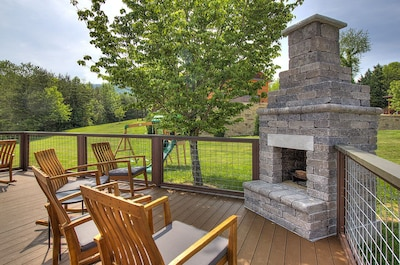 firepit on the deck