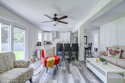 Bright and Airy Living Room-Open Concept