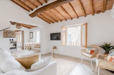 Centre ville de San Gimignano, San Gimignano, Toscane, Italie