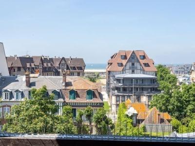 Centre-ville de Deauville, Deauville, Calvados (département), France