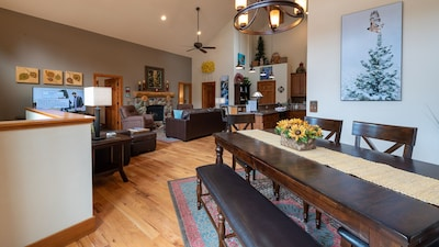 Dining Room/Great Room with Huge Views, Gas Fireplace and Loads of Space