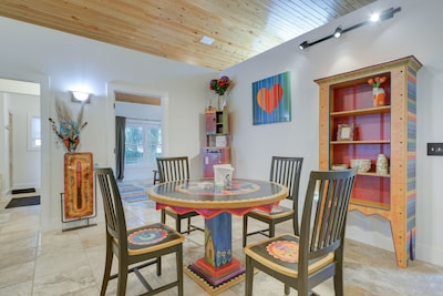 Handmade artisan furniture is what really makes this house so unique.