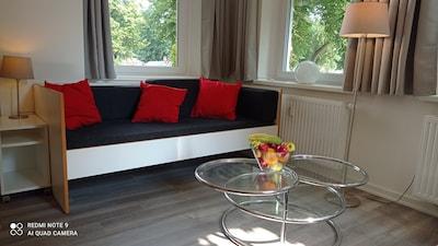 Wohnbereich mit 2 Couchbetten (90x200 cm)