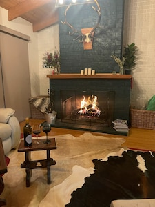 Open fireplace - wood provided