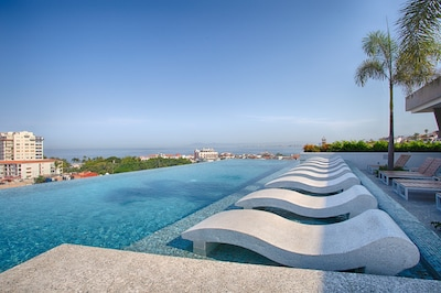 Stunning ocean views from the rooftop pool