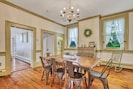 Dining Room with original chandelier