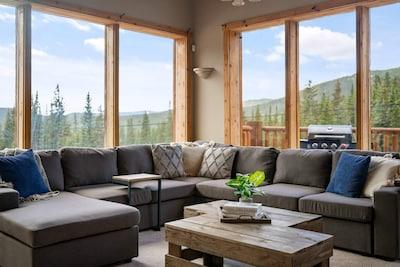 This condo has incredible views as well as comfy decor