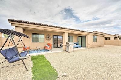 Property Exterior | Gas Grill | Mountain Views