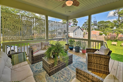 Private Porch | Stairs Required to Access Property