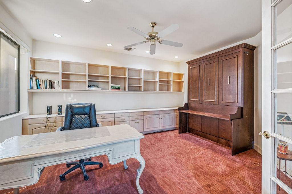 Buffalo House office with murphy bed