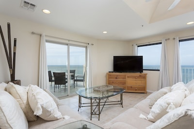 Enjoy the beautiful view right from the living area.