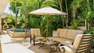 Relax outside on the private back patio...