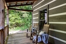 Relax in a rocking chair on the front porch & take in the fresh mountain air!