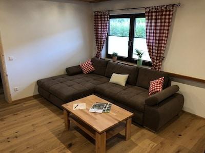 Ferienwohnung Lappach, 53qm, 1 Schlafzimmer, max. 4 Personen-Couch