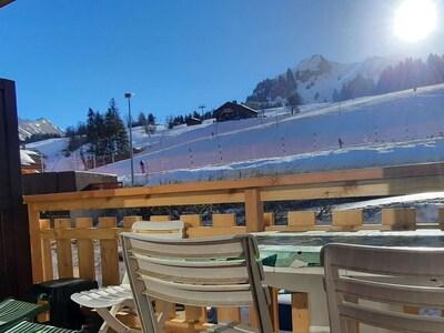 Skilift La Duche, Le Grand-Bornand, Haute-Savoie (Département), Frankreich